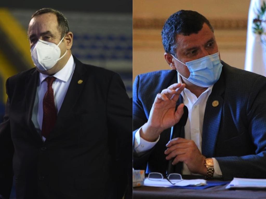 Alejandro Giammattei y Guillermo Castillo dividen su opinión por la CC.