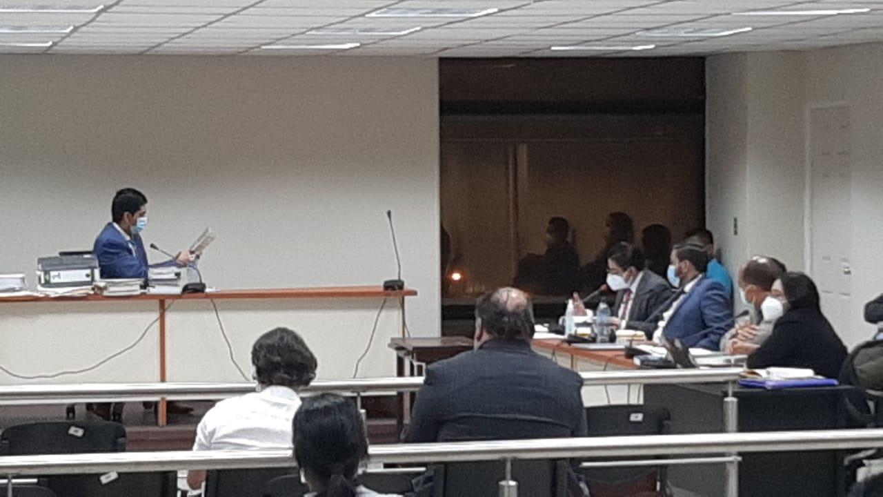 Audiencia de primera declaración de caso Libramiento de Chimaltenango.