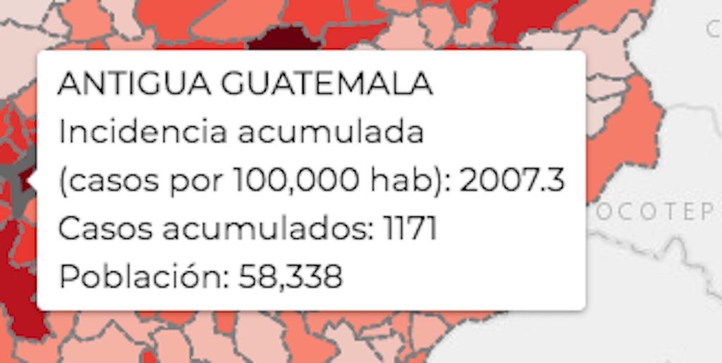COVID-19 en La Antigua Guatemala.
