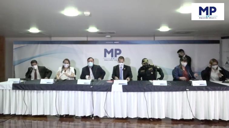 Conferencia del MP por disminución de secuestros y desaparición de personas.