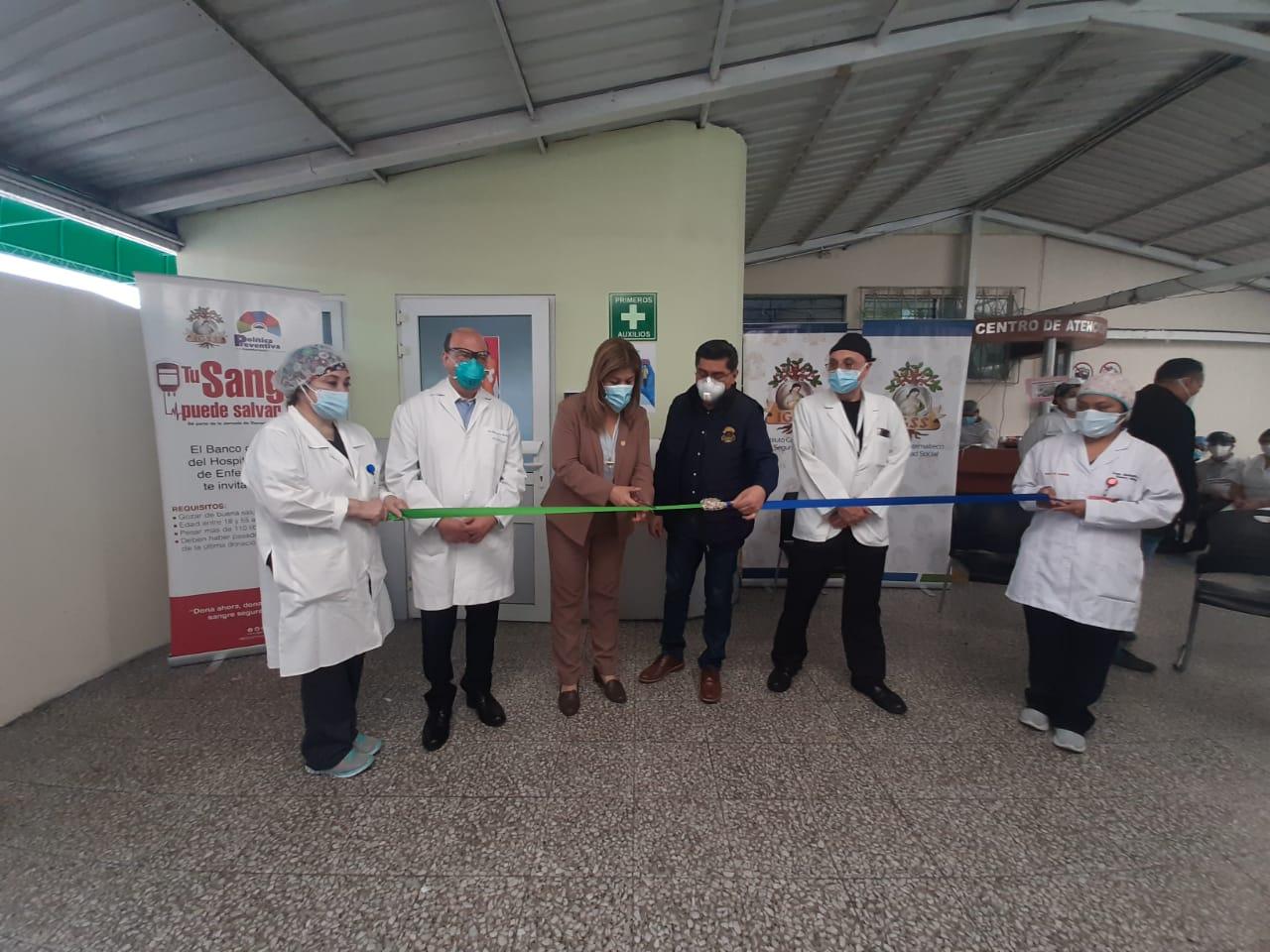 IGSS inaugura módulo de donación de plasma en zona 9
