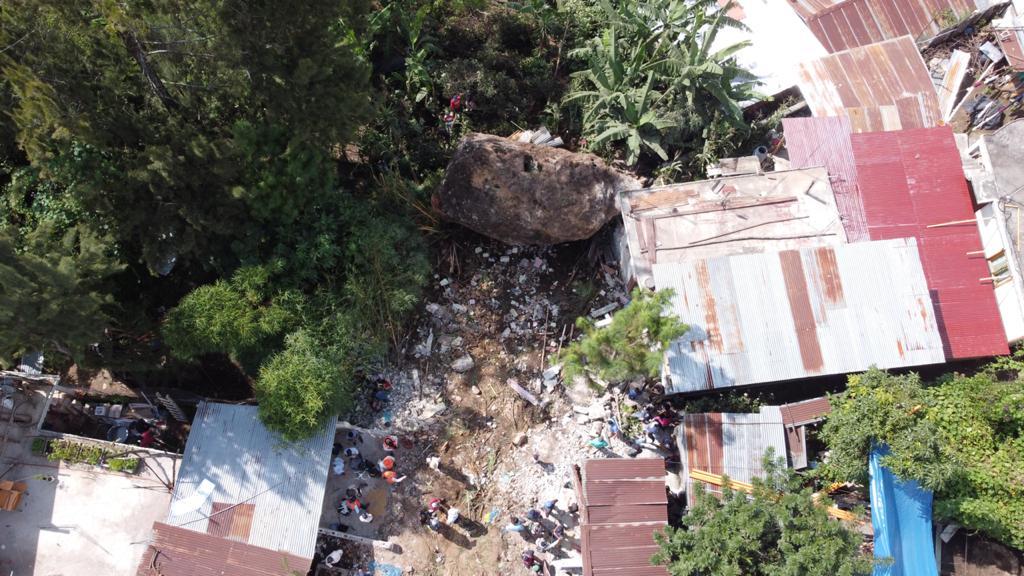 deslizamiento en San Marcos La Laguna