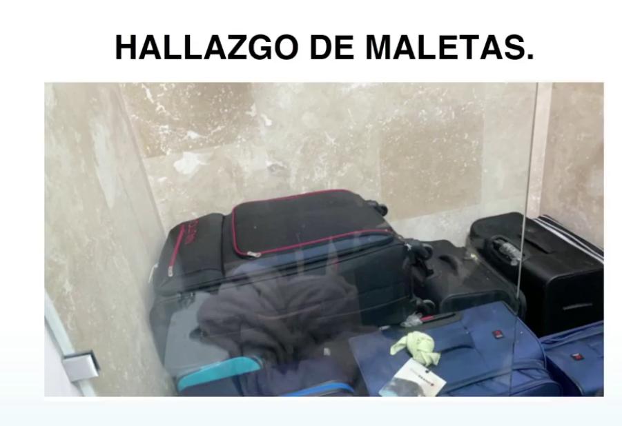 maletas con dinero decomisadas en Antigua Guatemala