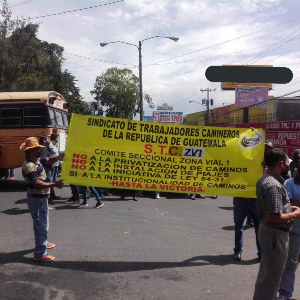manifestación de trabajadores de Caminos
