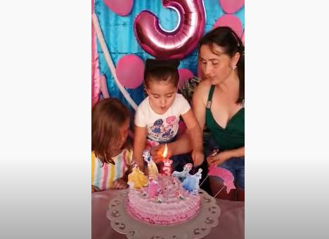 niña pastel cumpleaños