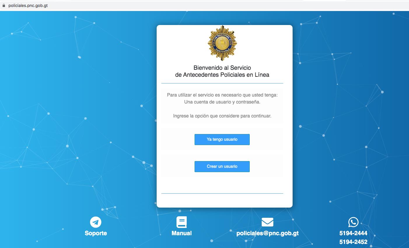 antecedentes policiales en línea