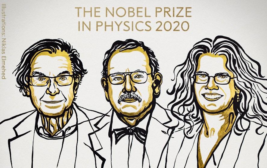 Roger Penrose,Reinhard GenzelyAndrea Ghez, ganadores delPremio Nobel de Física 2020