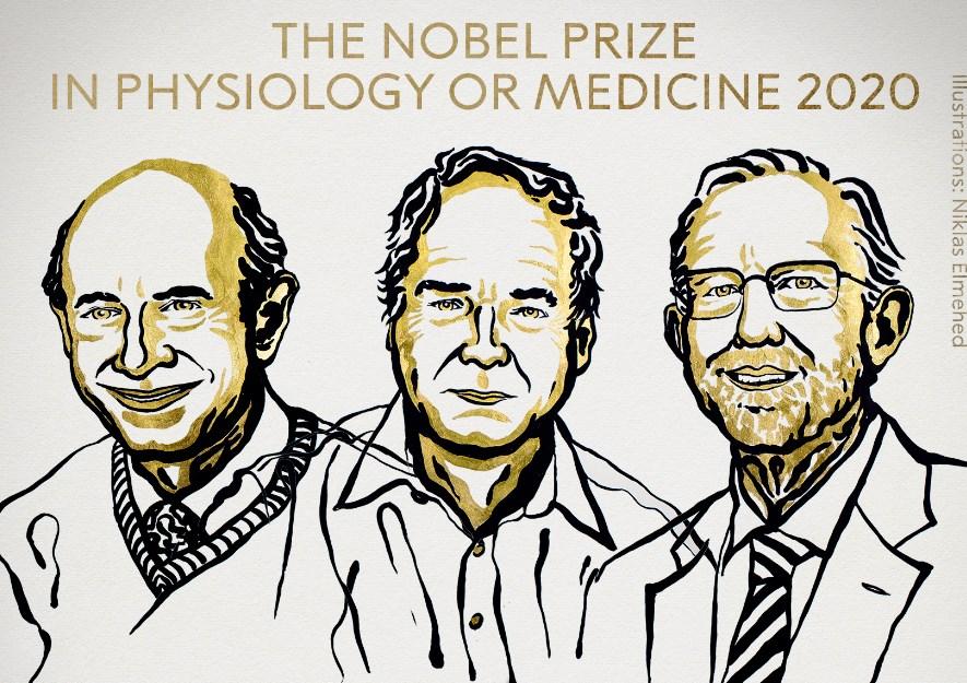 Harvey Alter, Charles Ricey Michael Houghtonganadores delpremio Nobel de Medicina 2020