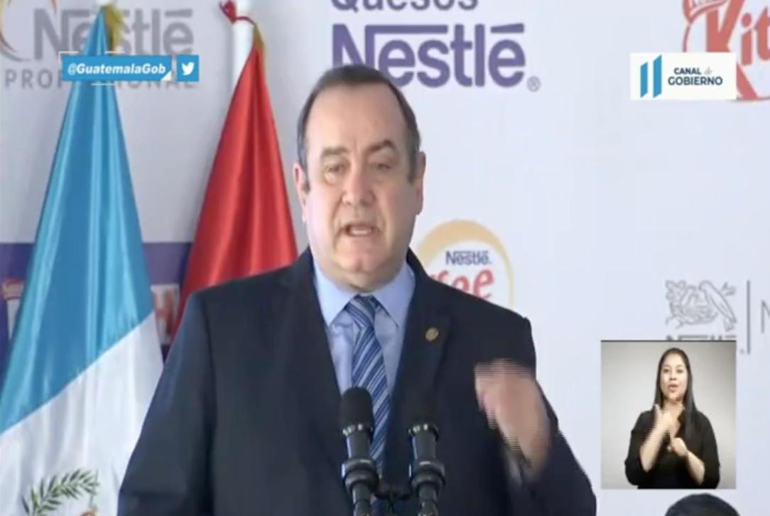 presidente Alejandro Giammattei habla de fallo de CC por magistrado Neftaly Aldana