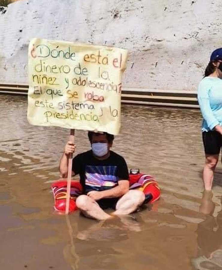 Protestan en el Libramiento de Chimaltenango