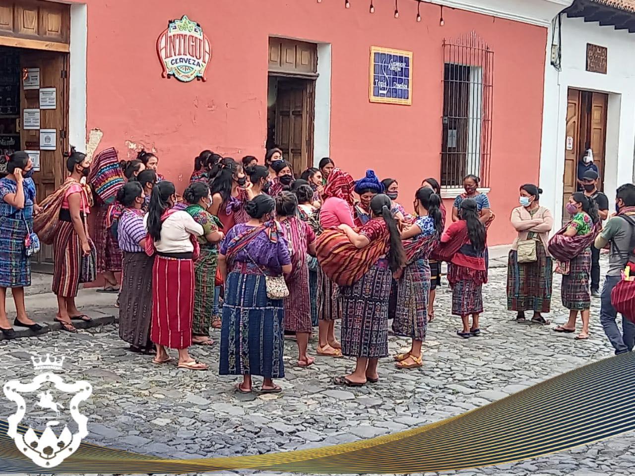 retiro de vendedores en Antigua Guatemala
