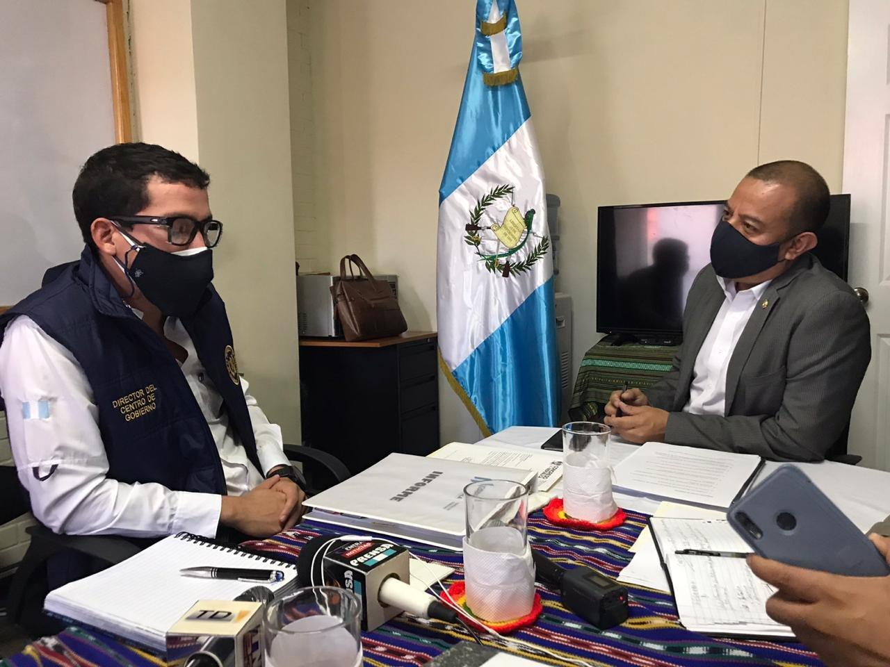 reunión del diputado Aldo Dávila y el director de Centro de Gobierno, Miguel Martínez