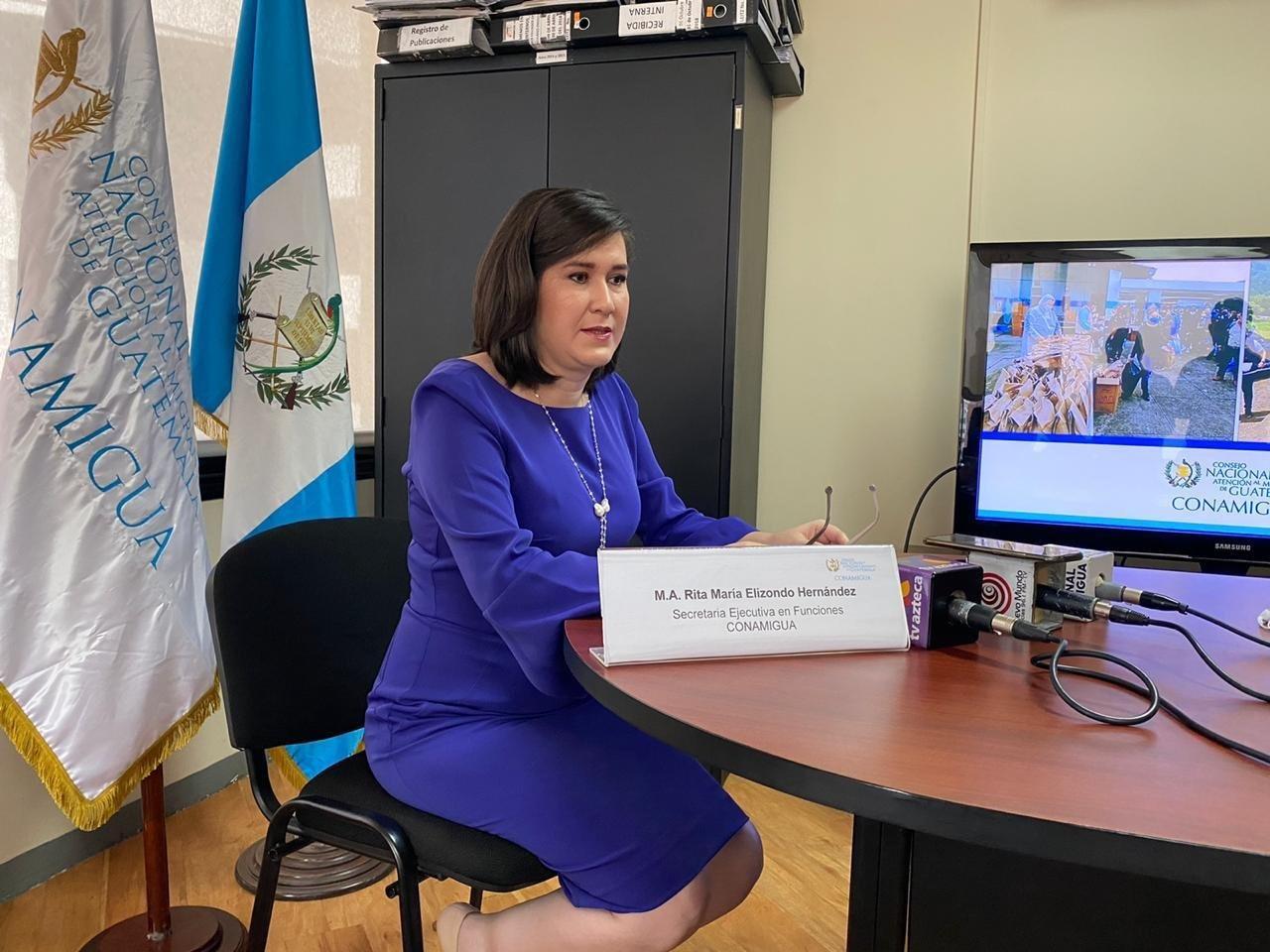 Rita Elizondo, secretaria en funciones del Conamigua