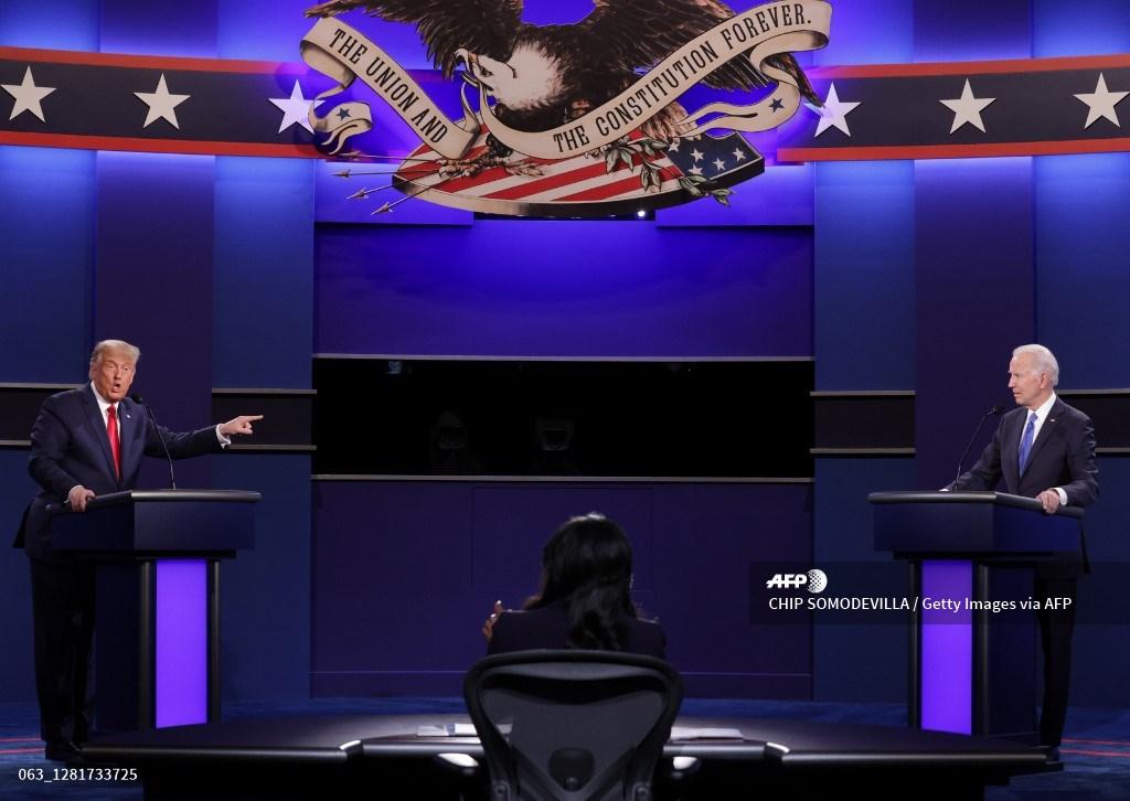 Segundo debate presidencial entre Donald Trump y Joe Biden