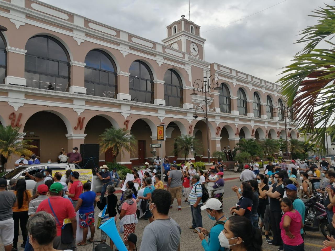 manifestaciones en el interior del país por presupuesto 2021