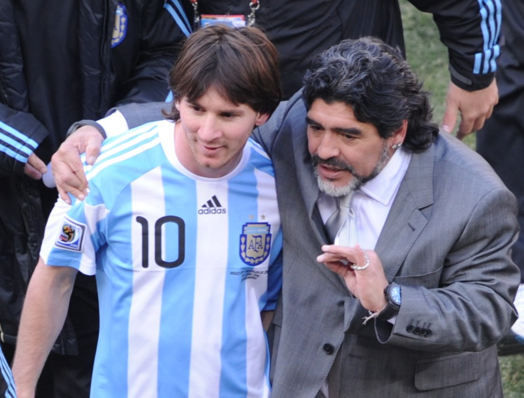 Mensaje de Messi a Maradona