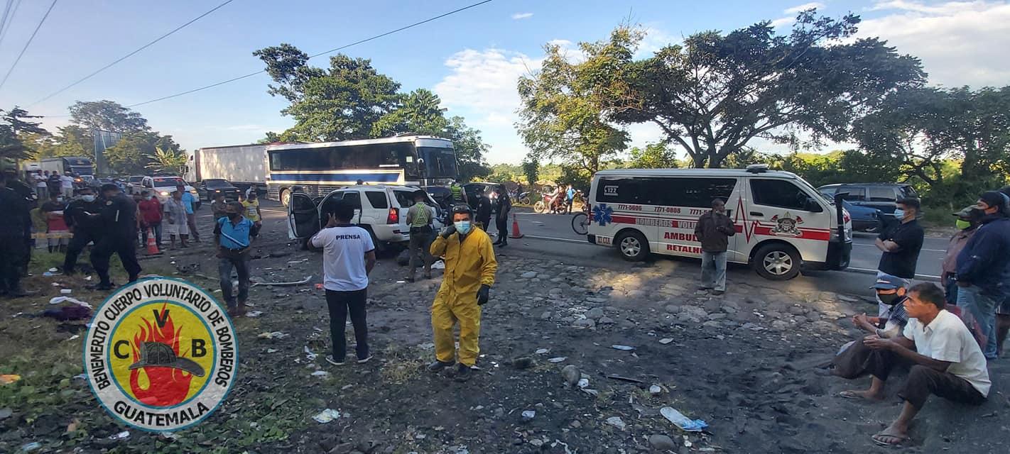 accidente de tránsito en Km. 176 de ruta al Pacífico