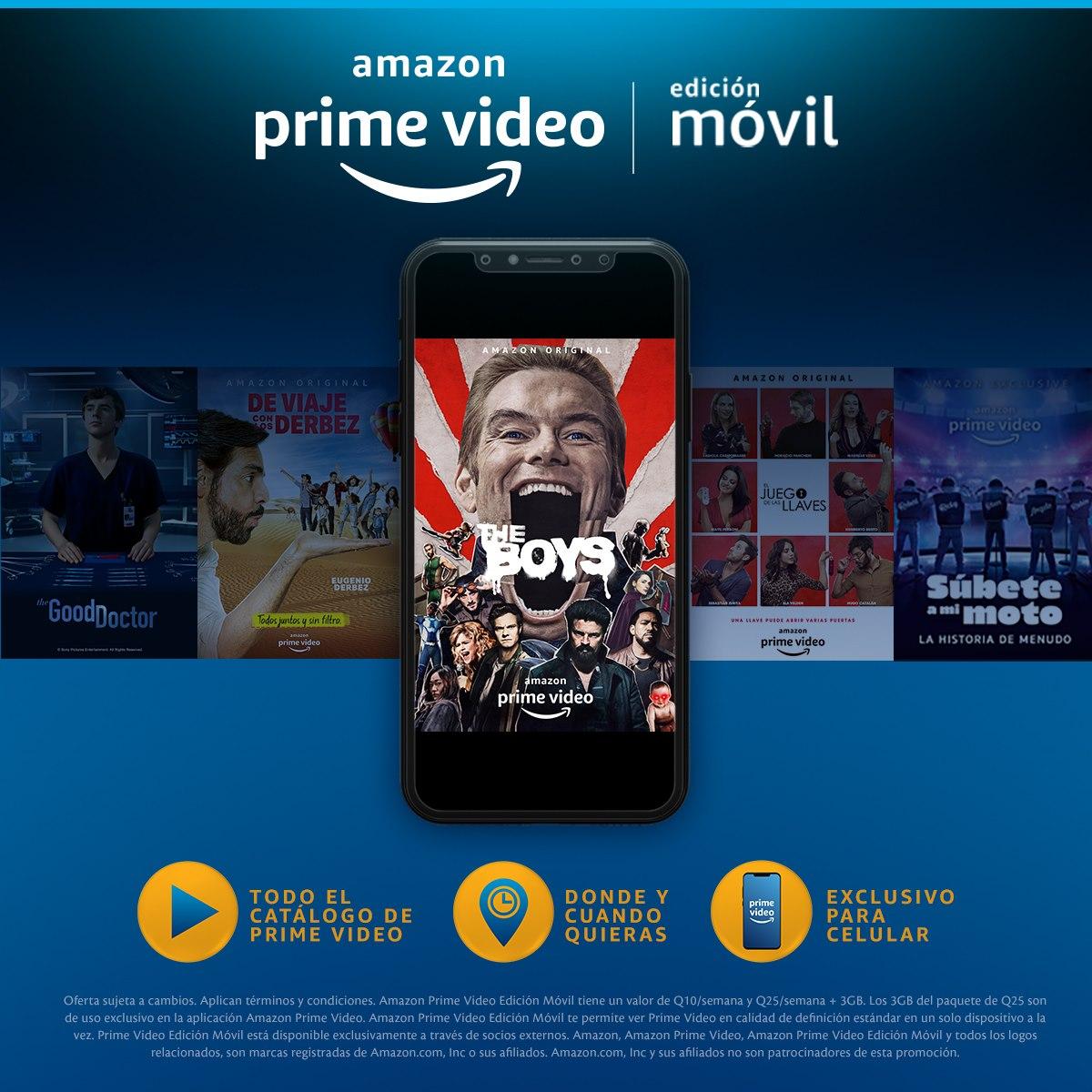 Amazon Prime Video para usuarios Tigo