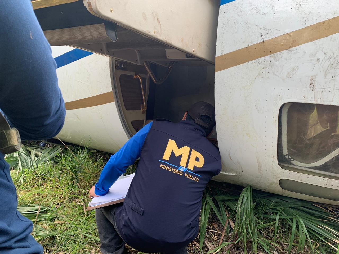 Localizan aeronave con posibles ilícitos en Retalhuleu