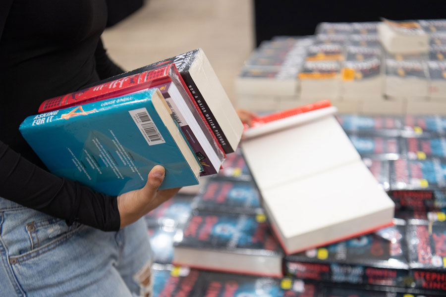 Libros en una feria