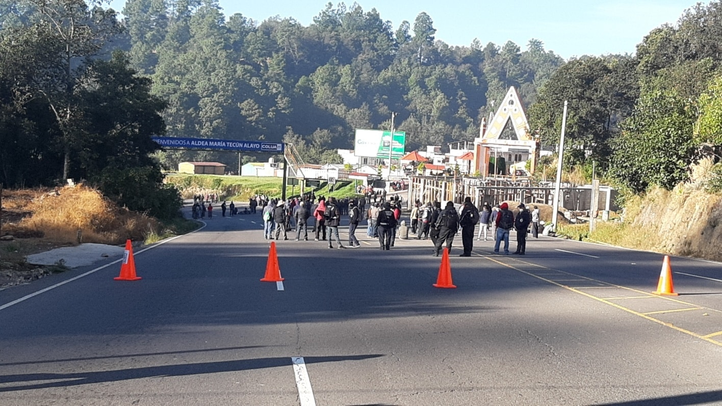 bloqueo en ruta Interamericana, Sololá
