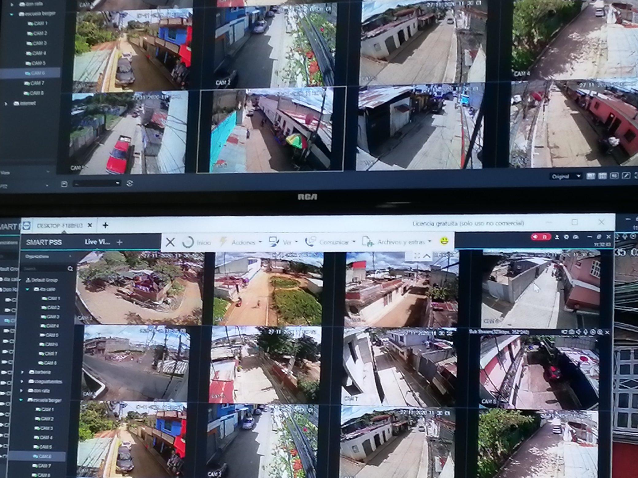 instalan cámaras de vigilancia en Mixco