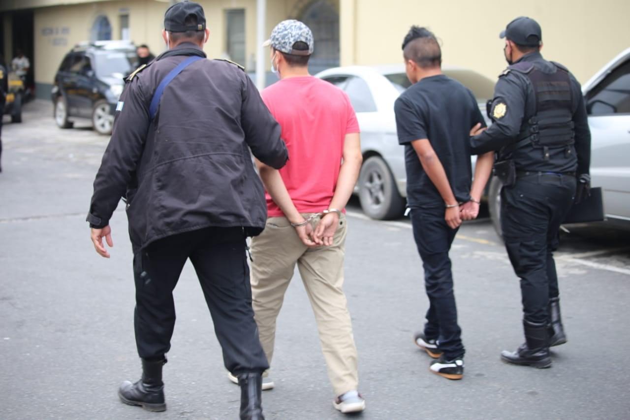 pandilleros capturados en Santa Catarina Pinula