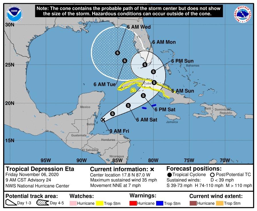 depresión tropical Eta