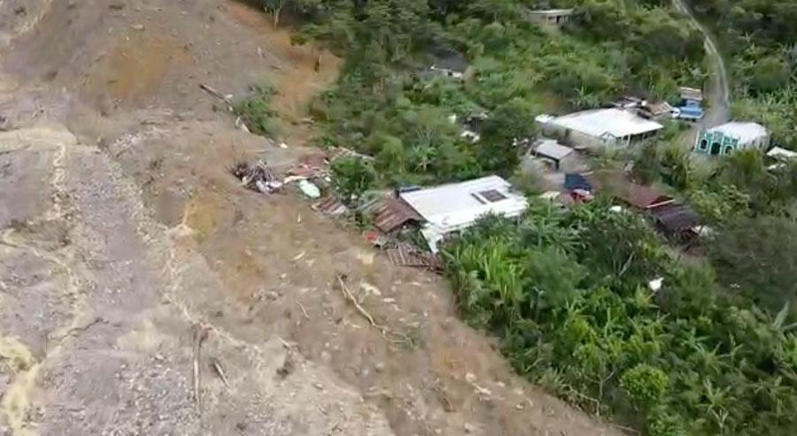 Dron capta imágenes en el caserío Quejá.