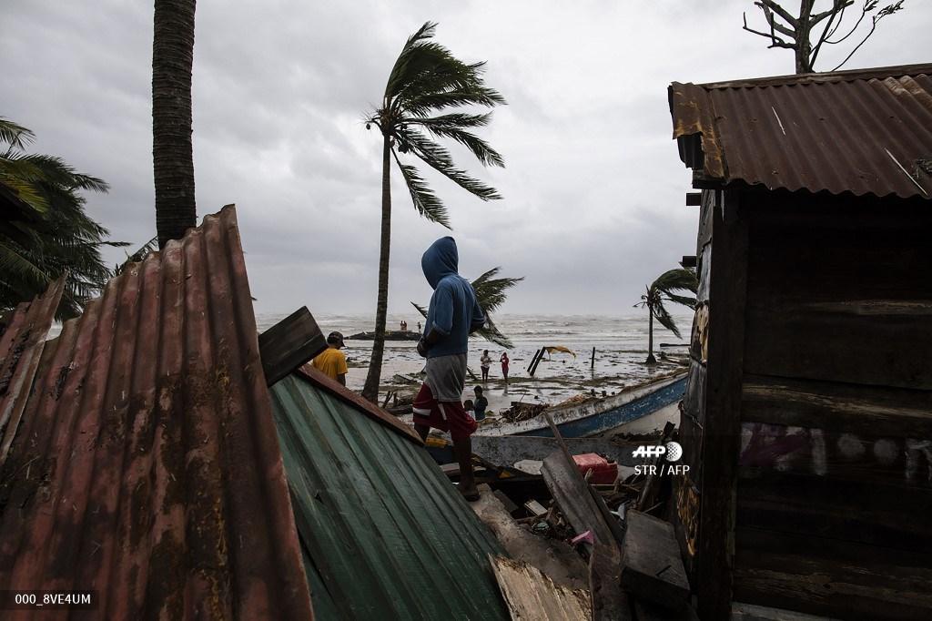 Iota deja destrozos en Nicaragua