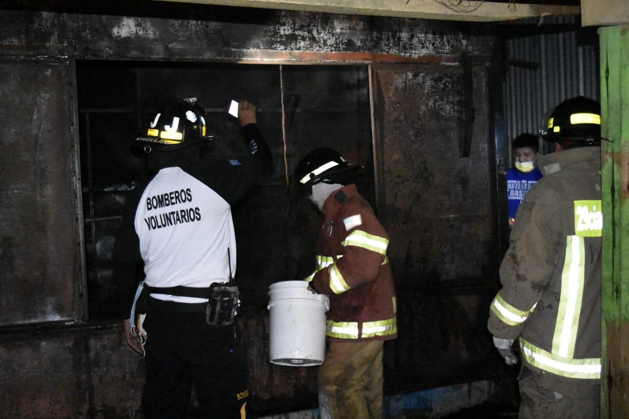 incendio en mercado de Amatitlán