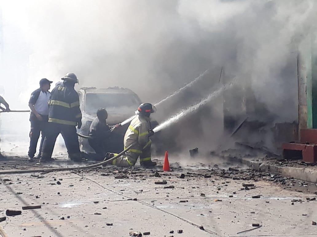 incendio en bodega de pirotecnia en Quetzaltenango