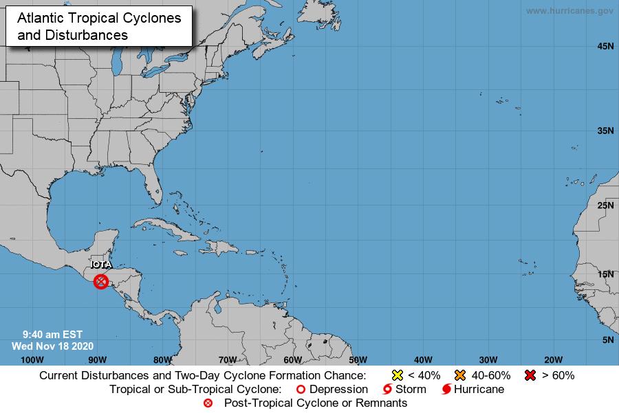 depresión tropical Iota