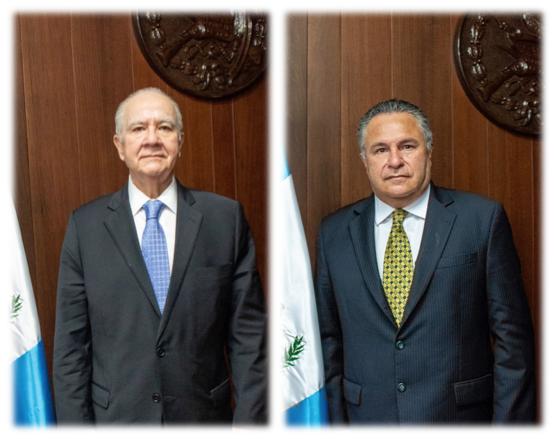Magistrados de la CC, Roberto Molina Barreto y Jorge Rosales.