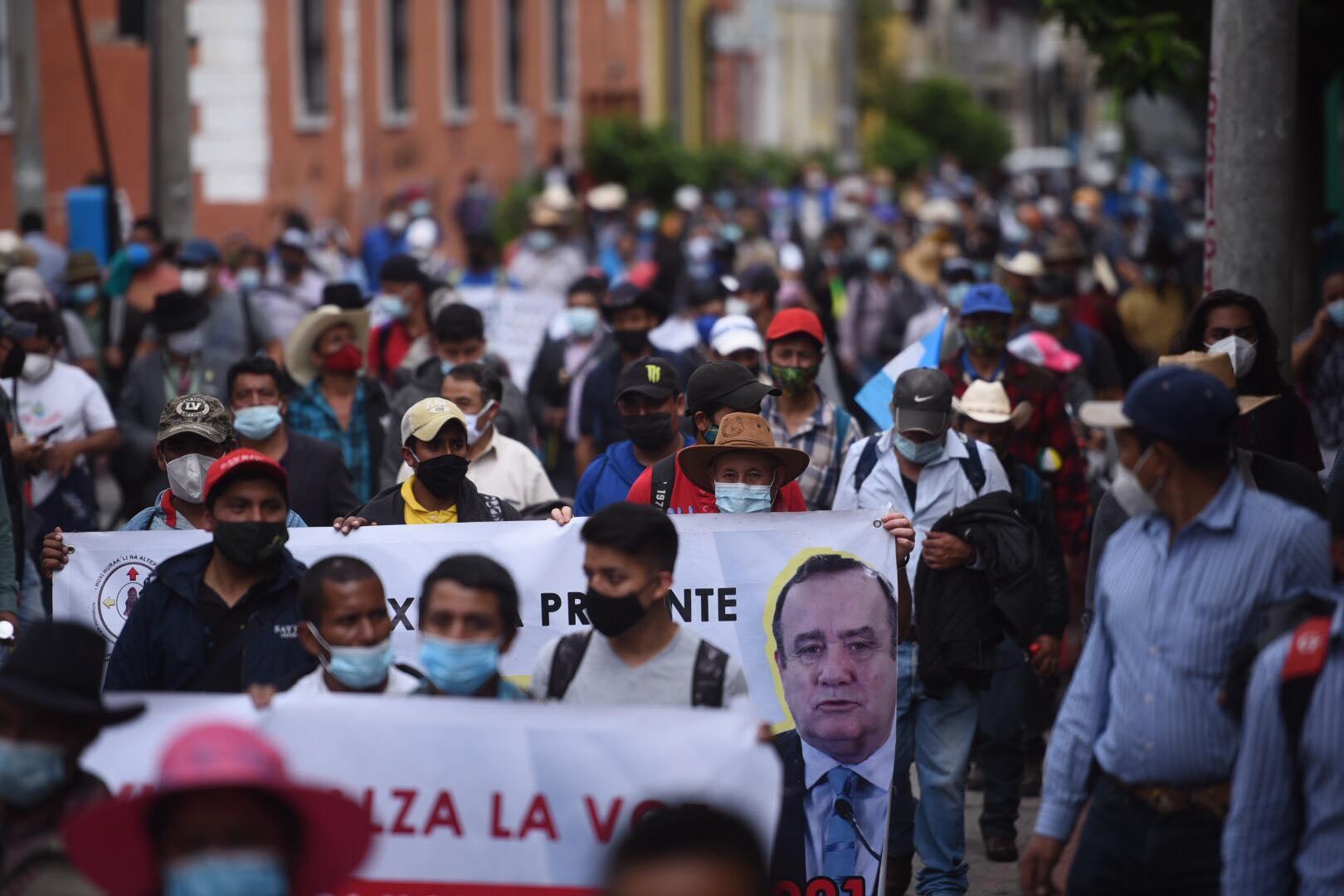 manifestación de los 48 cantones y pueblo Xinka