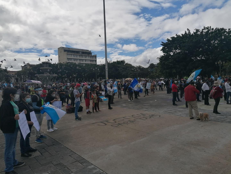 manifestación contra el presupuesto 2021