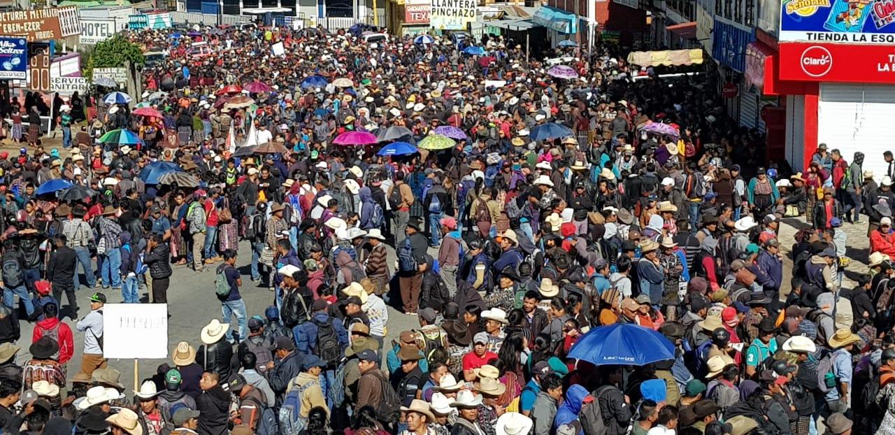 Manifestación pacífica en Sololá