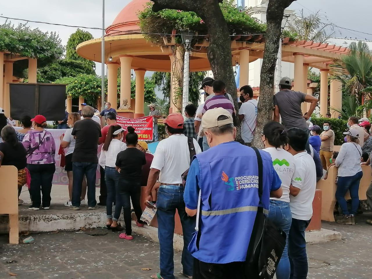manifestación en Retalhuleu