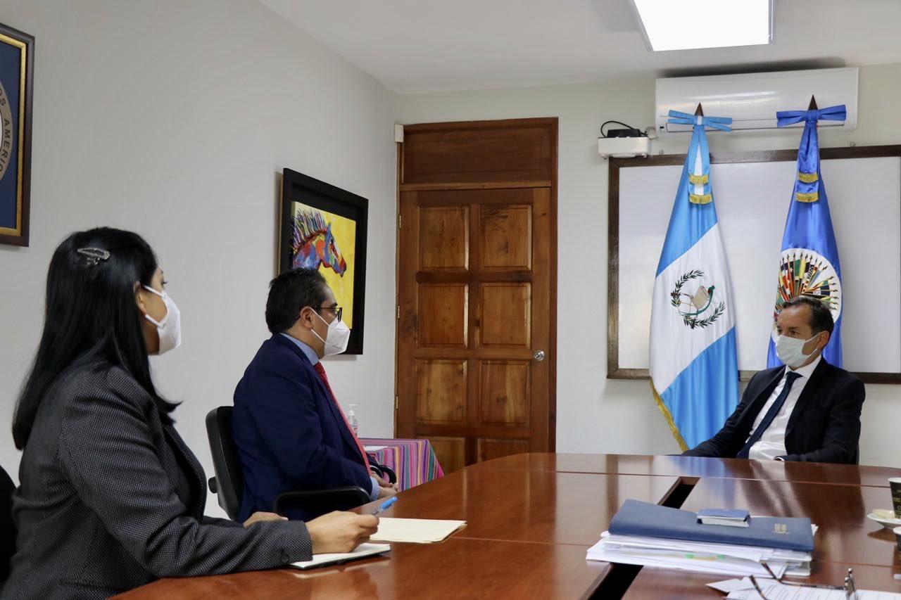 reunión de misión de OEA con PDH, Jordán Rodas