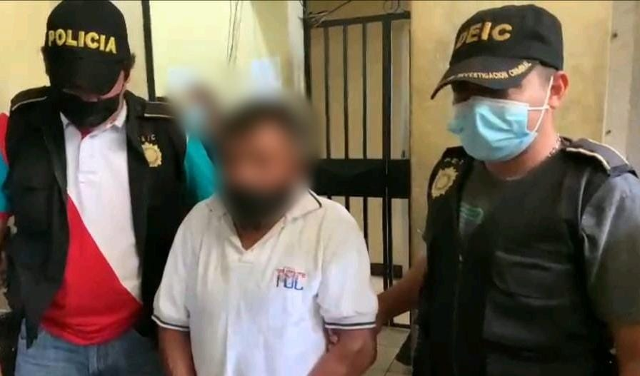 presunto violador capturado en EScuintla