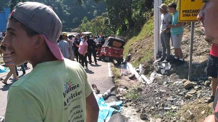 Accidente de tránsito en San Rafael Pie de la Cuesta, en San Marcos.
