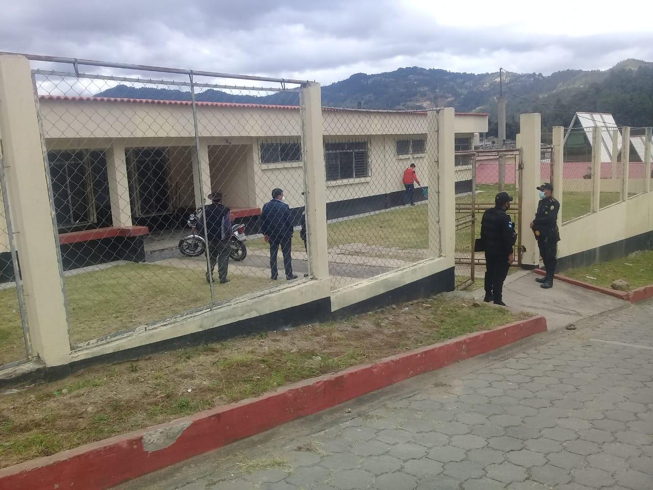 Sede de la PNC en San Miguel Ixtahuacán.