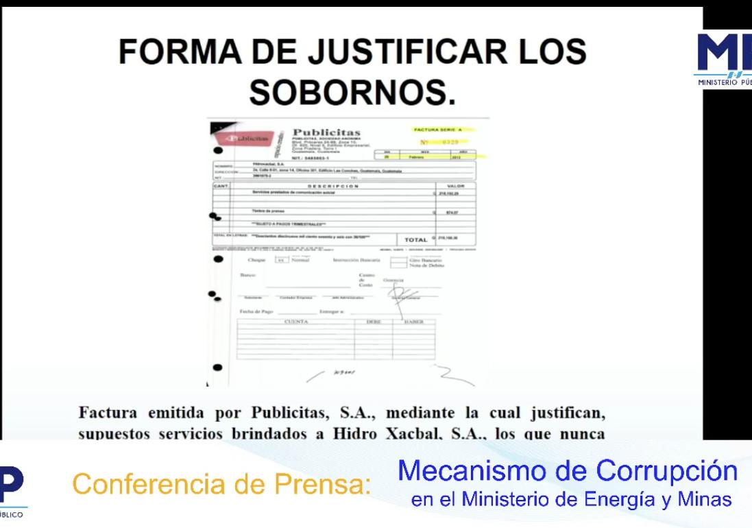FECI revela mecanismo de corrupción en el Ministerio de Energía y Minas