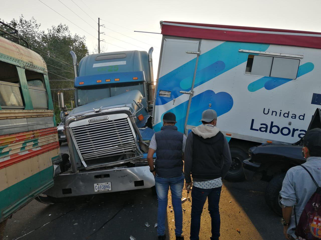 choque de laboratorio móvil del Ministerio de Salud en Tiquisate
