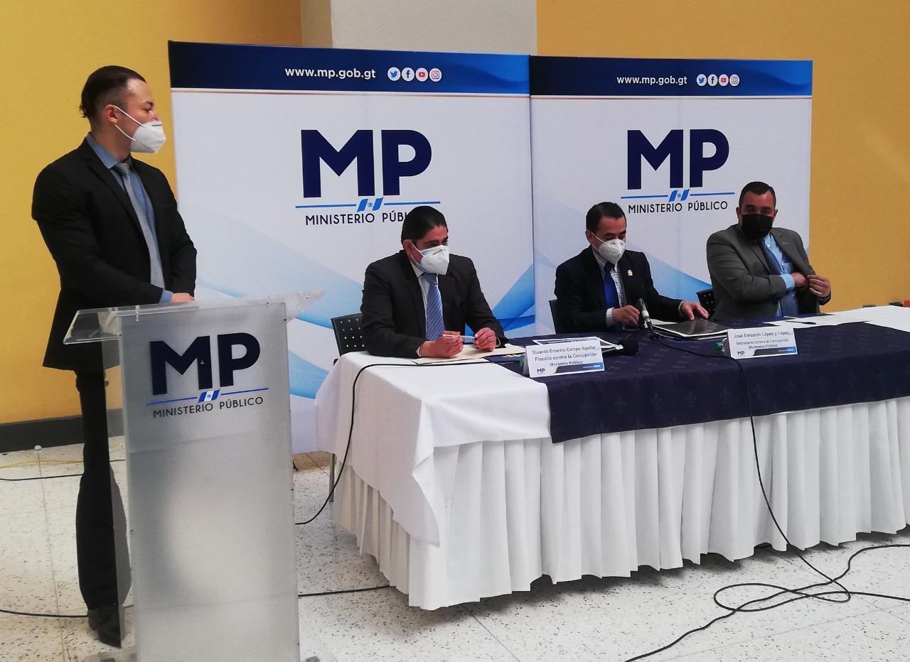 Mp presenta caso de corrupción en la Contraloría General de Cuentas