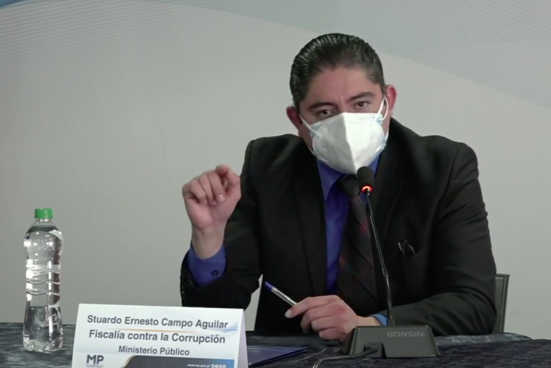 jefe de la Fiscalía contra la Corrupción, Stuardo Campo