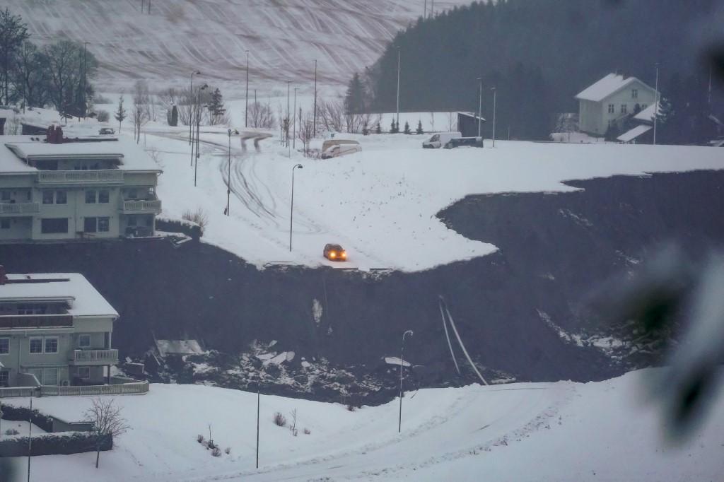 Deslizamiento de tierra en Noruega