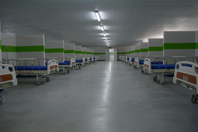 Centro de aislamiento por COVID-19 en la zona 21.