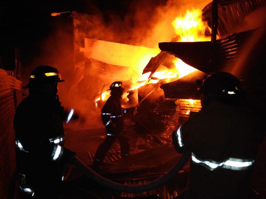 Incendio en San José Villa Nueva