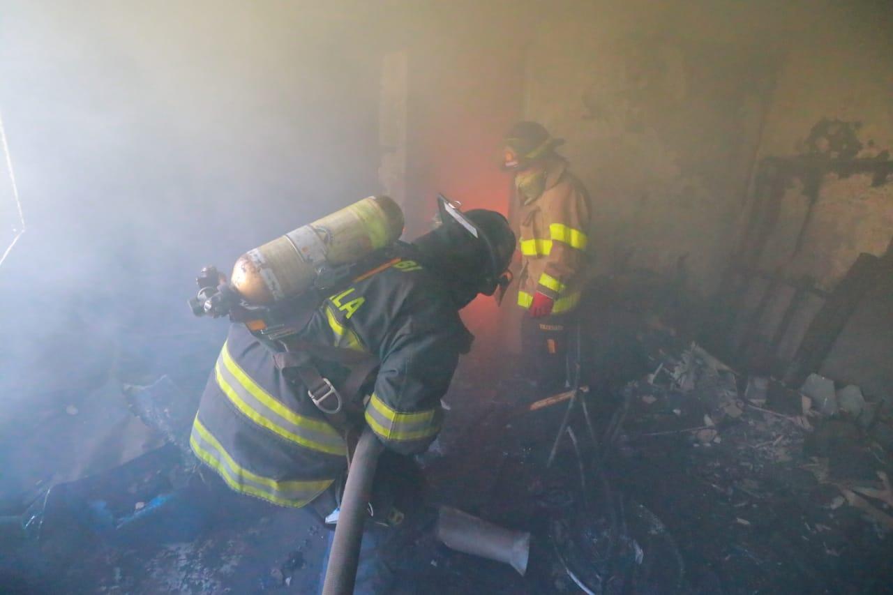 incendio en vivienda de ruta a El Salvador